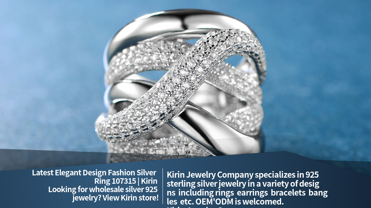 Elegante Design Mode 925 Sterling Silber Ring 107315