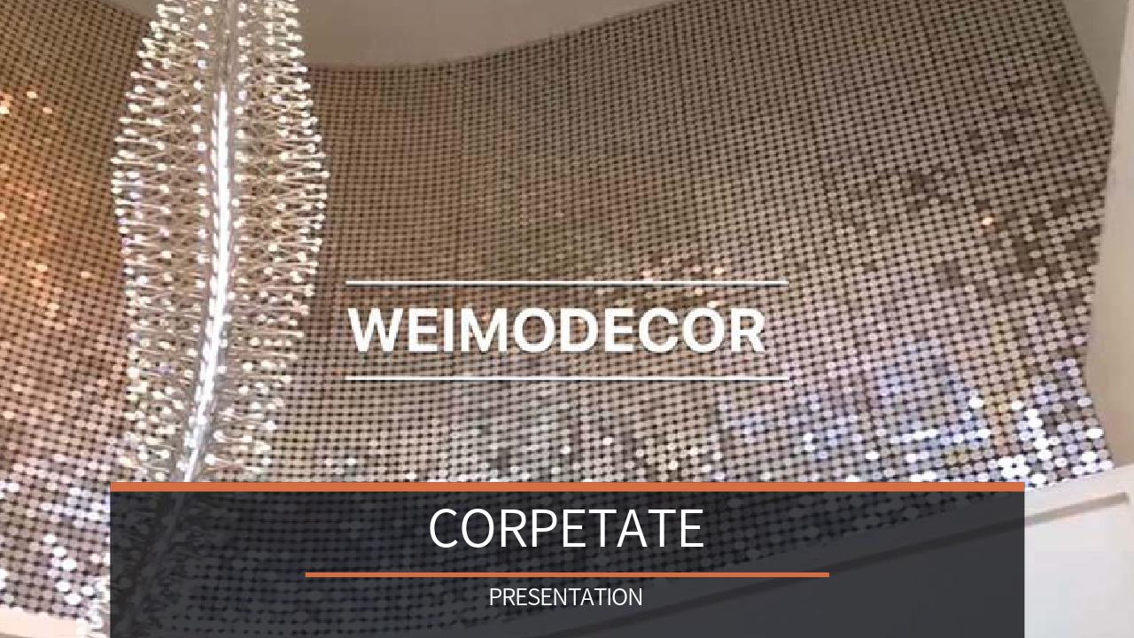 Weimodecor Sequin Curtain ir viegli izgatavojams
