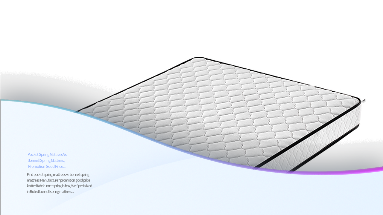 تعزيز المهنية سعر جيد النسيج التريكو innerspring في مربع المصنعين