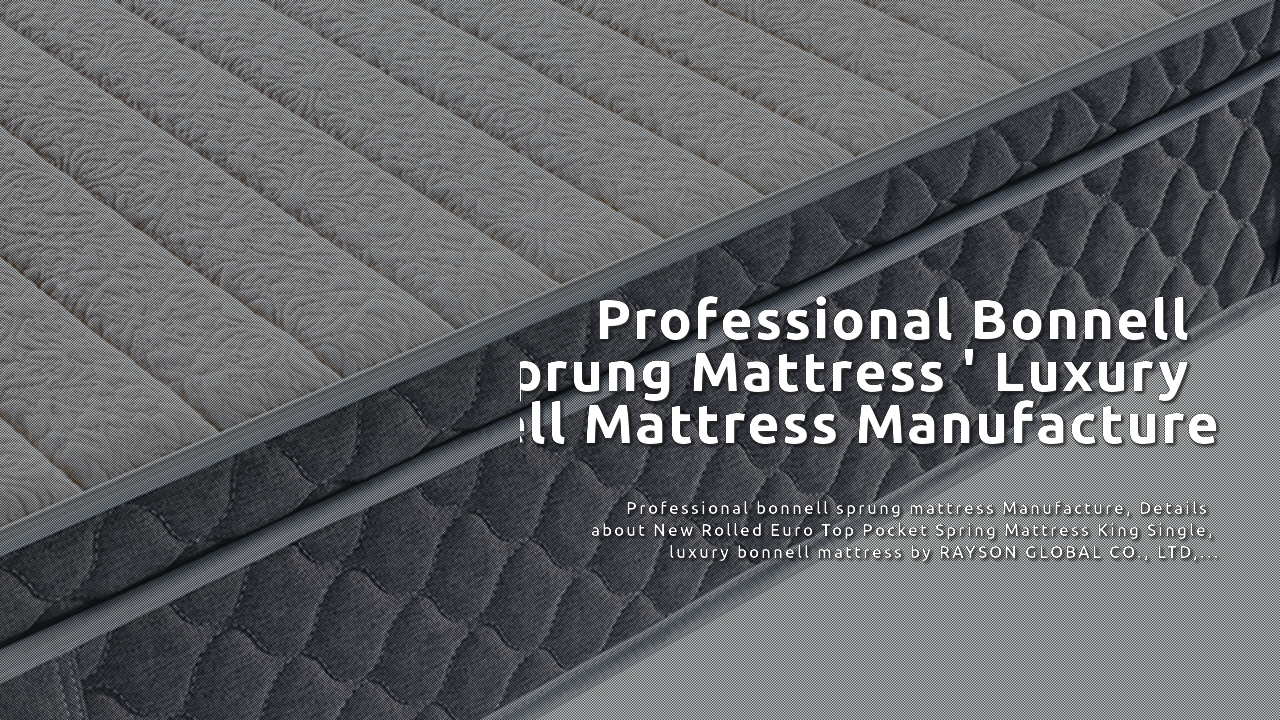 China New Rolled Euro Top Pocket Spring Mattress King Single emepụta-Rayson
