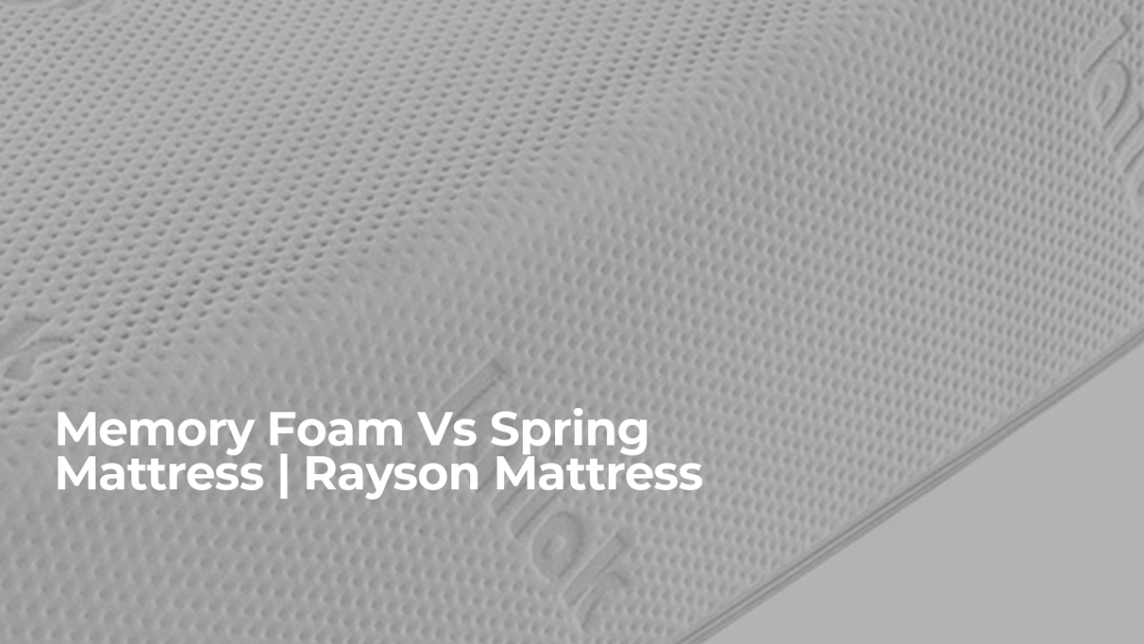 Wowerenga bwino Foam Vs Spring Matress Supporter