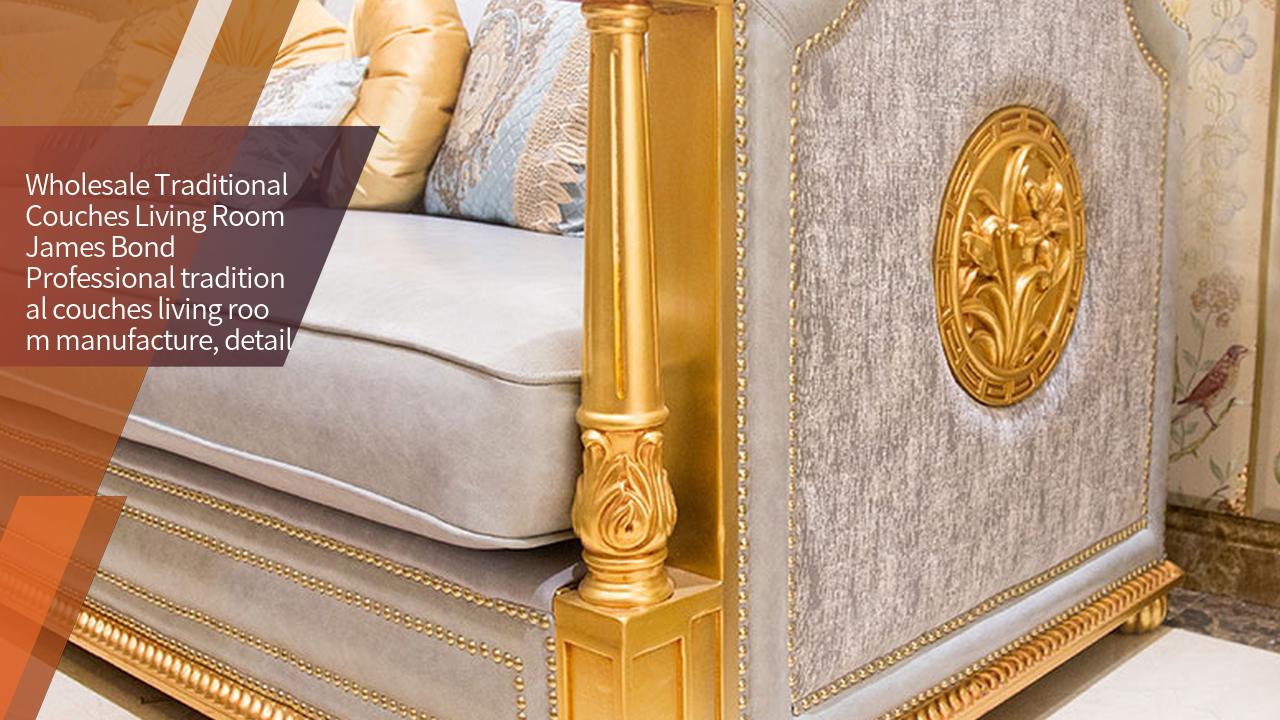 James Bond Classic sofa design 14k zêr û şêweya Brîtanî Light blue A2822