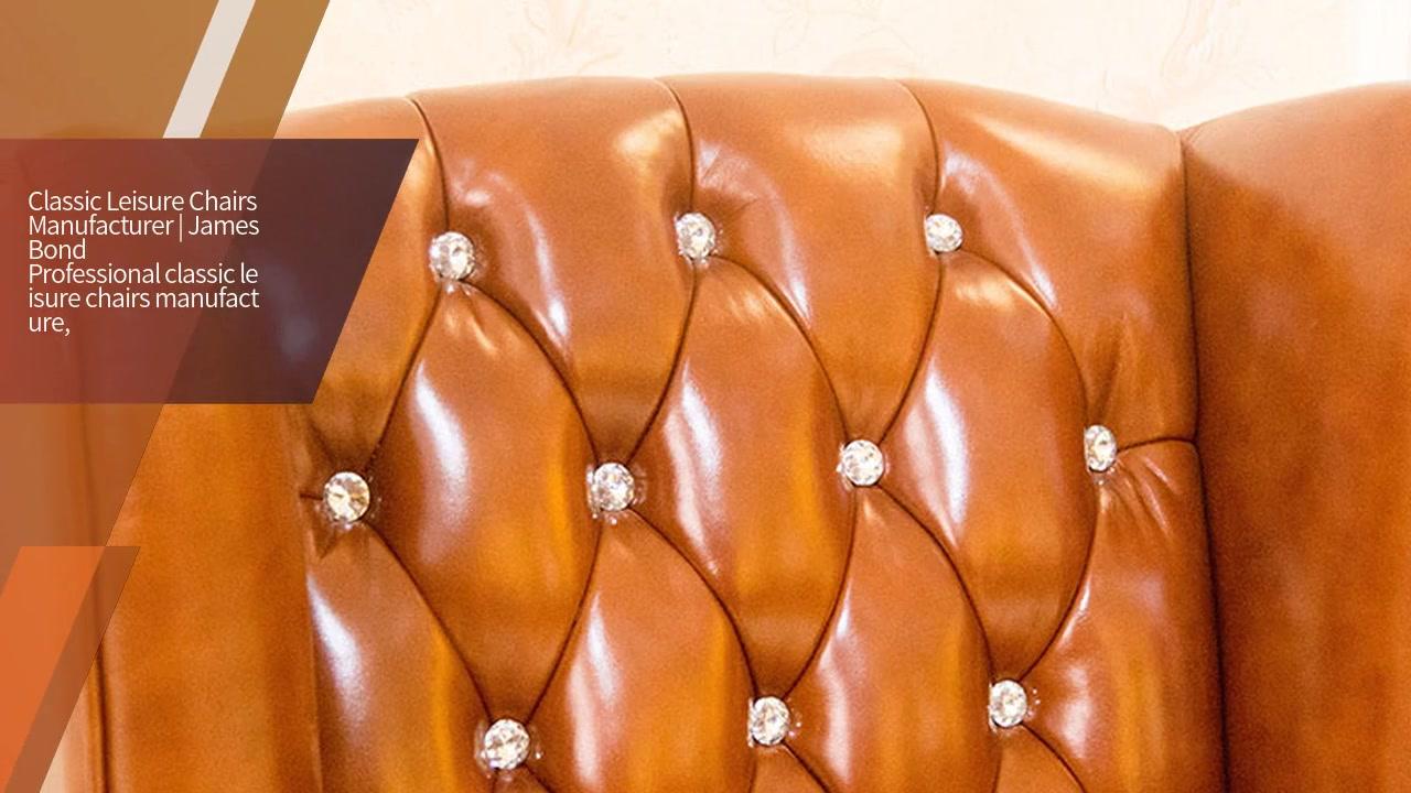 James Bond klassische Möbel 14 Karat Gold Freizeitstühle A609 (Hellbraun)