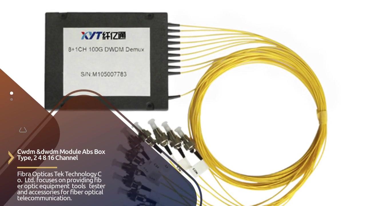 ABS Box Type CWDM&DWDM Fiber Multiplexer VIDEO