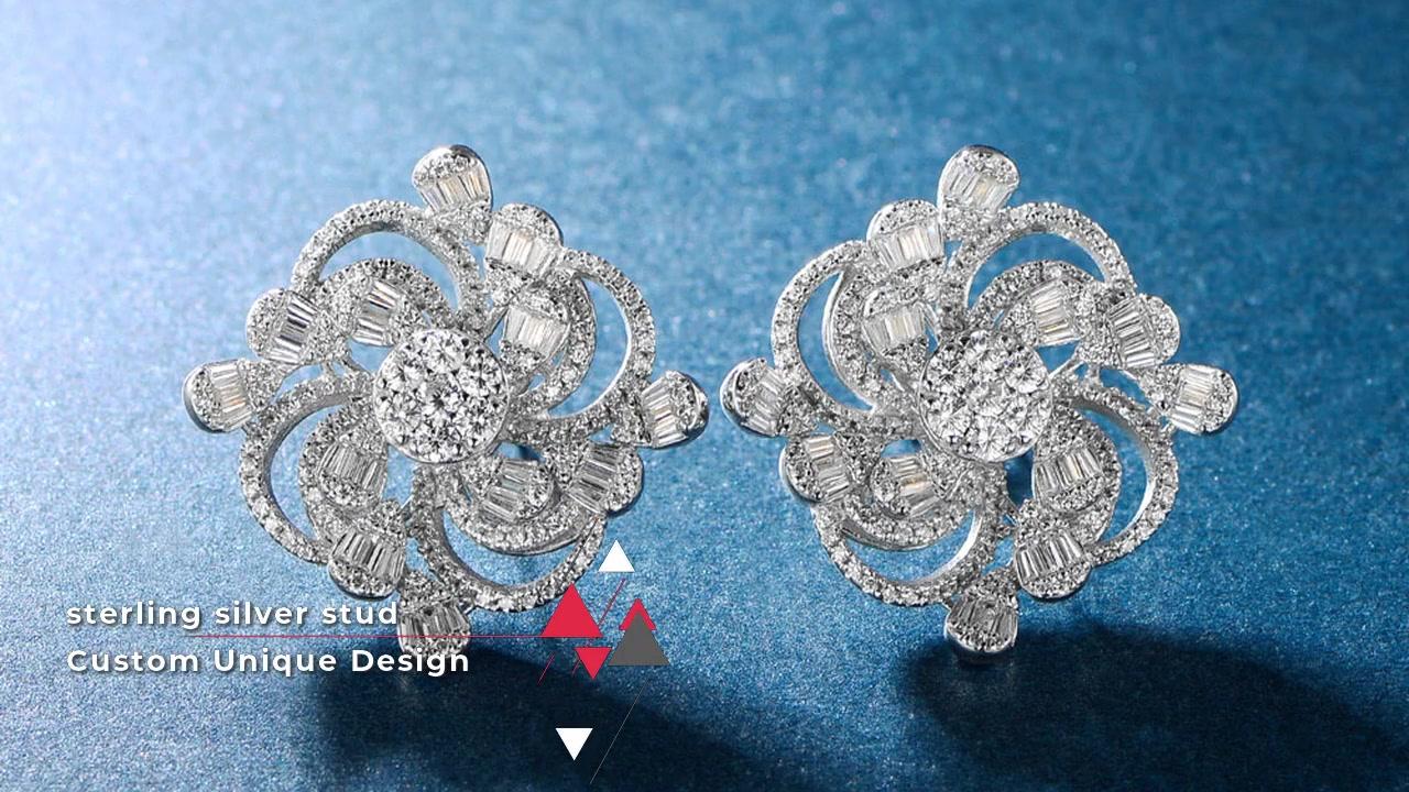 Orecchini a perno in argento sterling 925 per gioielli da donna 300572