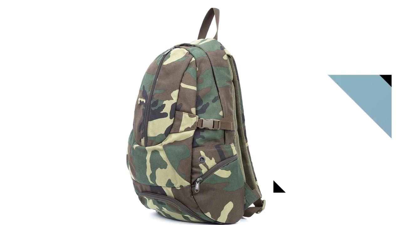 Military backpack nylon fabric with zipper closure