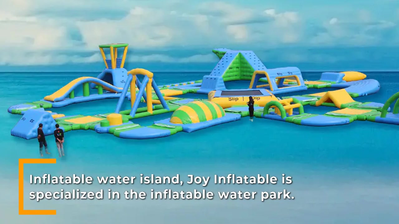 Inflatable Island Water Park For Outdoor Sea Water Sports