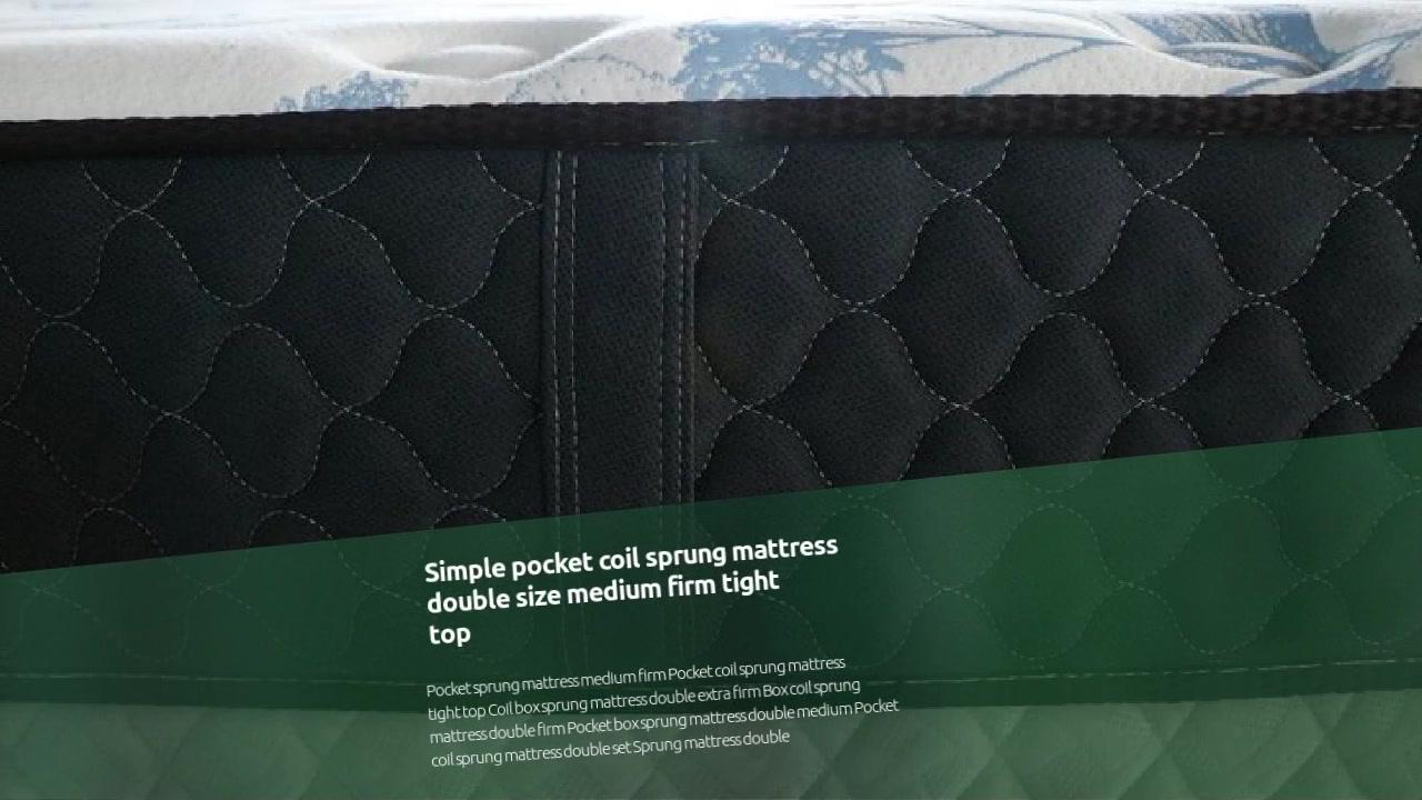 U megliu materassi bobina di tasca Semplice doppia dimensione media ferma stretta cima Fornitore