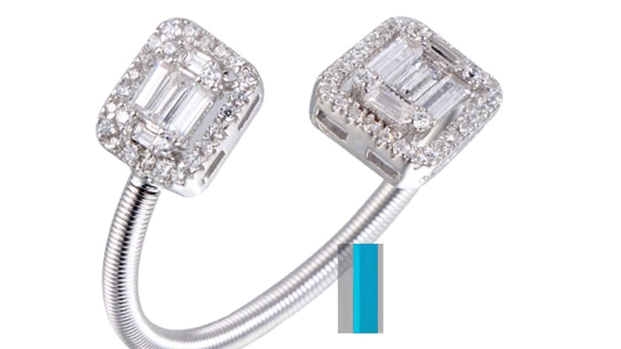Ny ankomst Forår Justerbar ring Baguette Cubic Zircon Ring Kirin smykker 104499