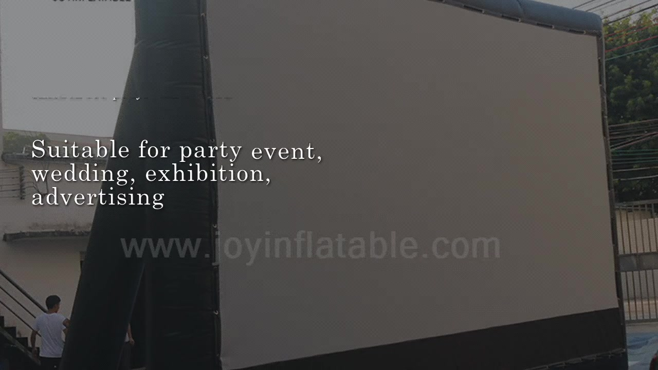 Commercial Outdoor Inflatable Projection Screen