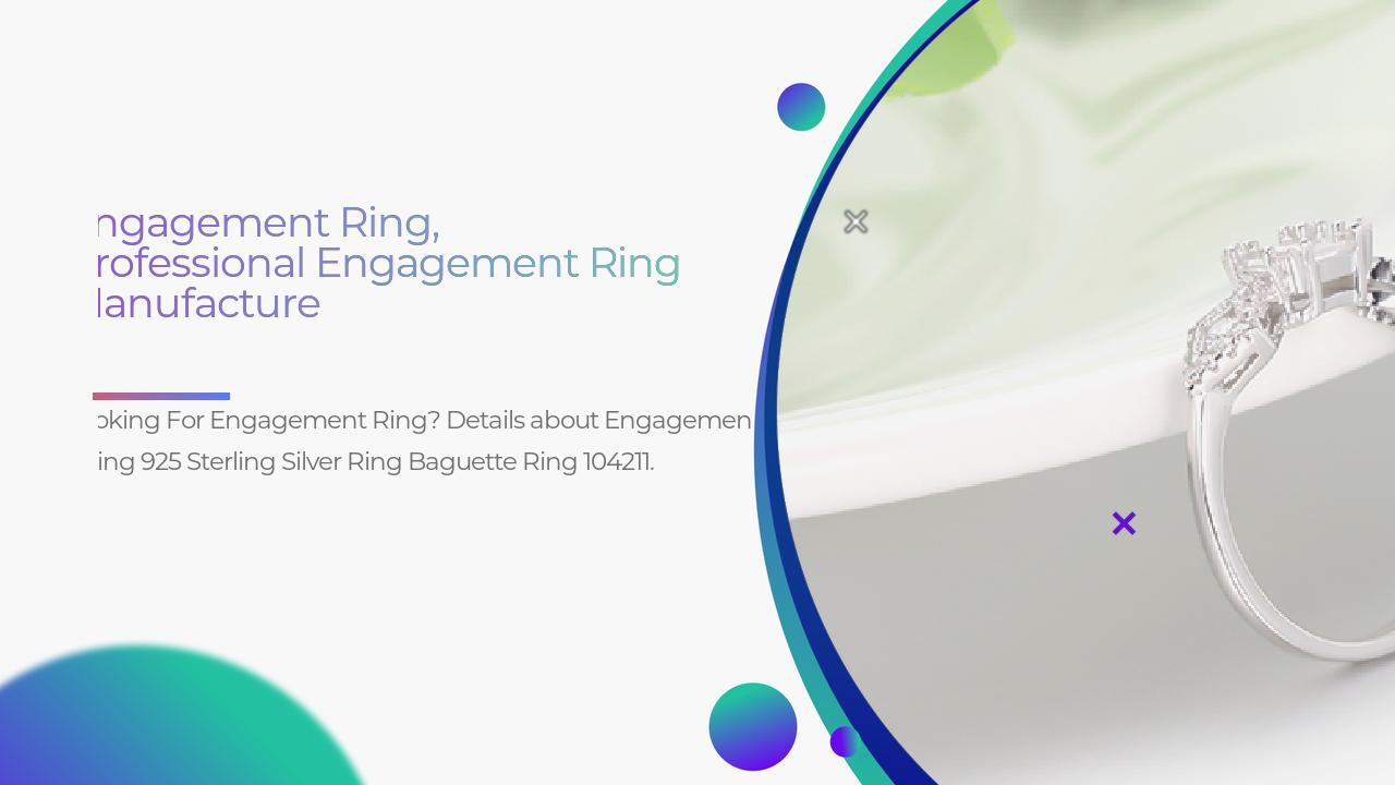 Cincin Pertunangan 925 Sterling Silver Ring Baguette Ring 104211