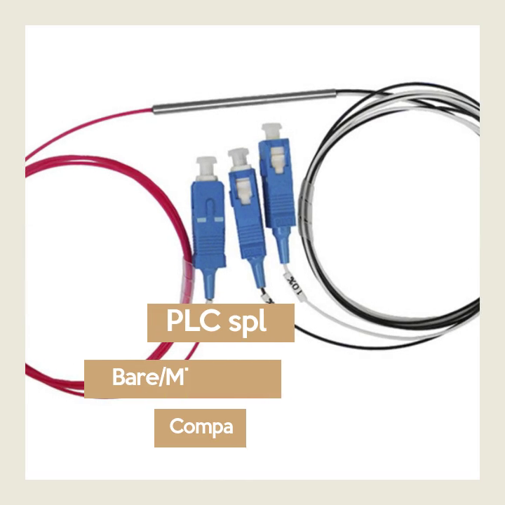 Fiber Optic Plc Splitter Bare Mini Steel Tube Type Video Display