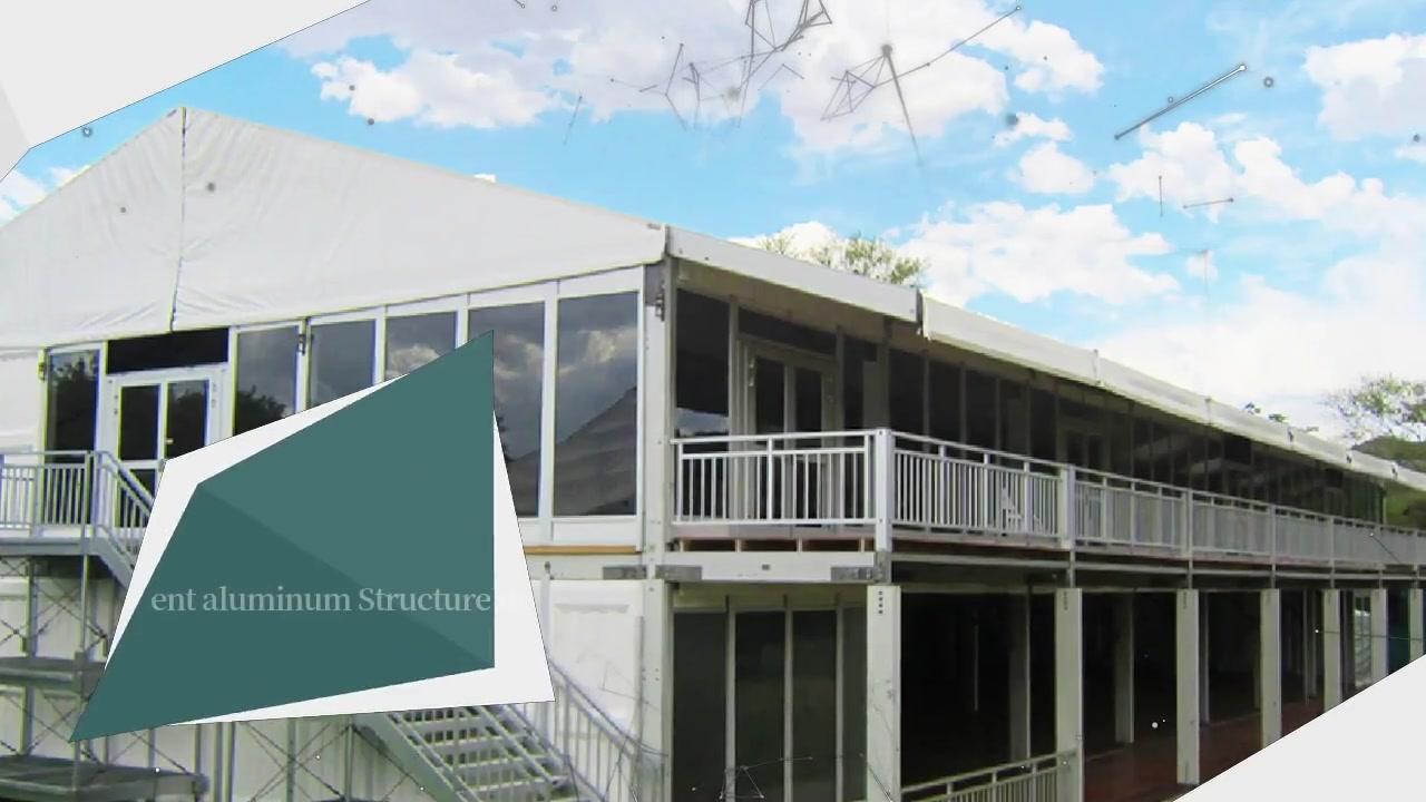 Cheval de tente de luxe de station de vacances de mariage de luxe de double pont d'événement extérieur de structure en aluminium permanent