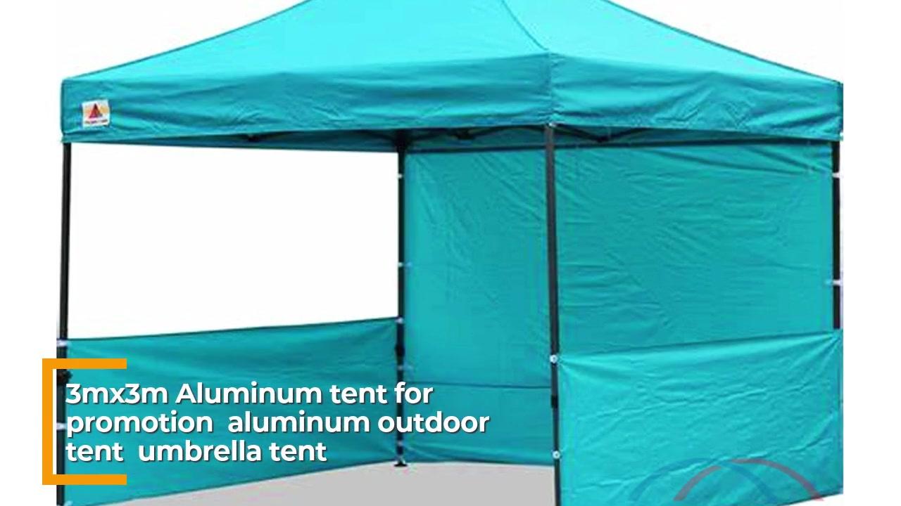 אוהל אלומיניום 3 mx3 m לקידום, אוהל אלומיניום חיצוני, אוהל מטרייה