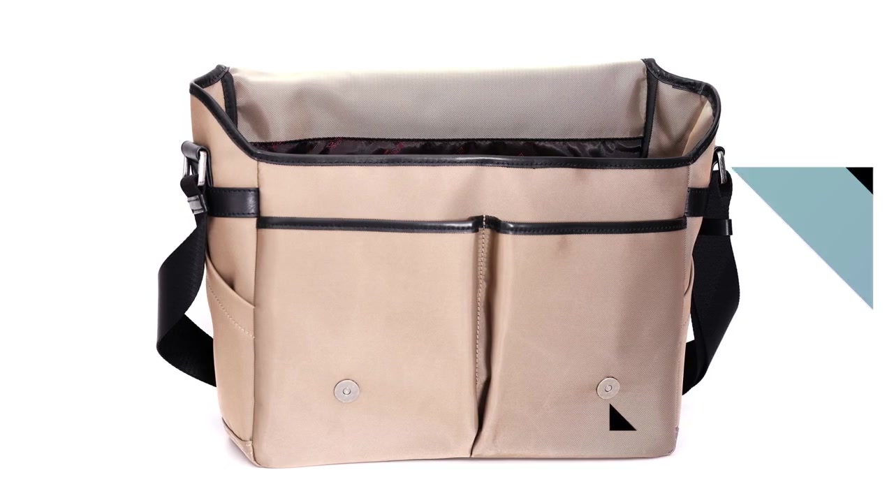 Professional Messenger Bags nylon fabric decoration with leather manufacturers