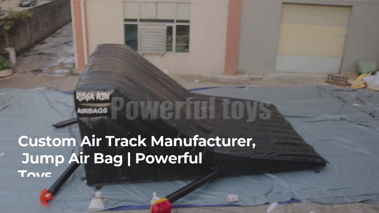 Inflatable Bmx Bike Landing Air Bag With Ramp, Best Factory Price