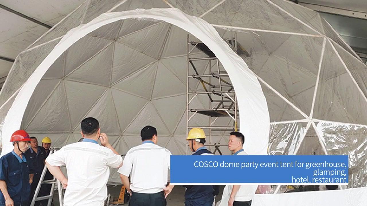 COSCO tendë feste për festat e serrës, serë, glamping, hotel, restorant