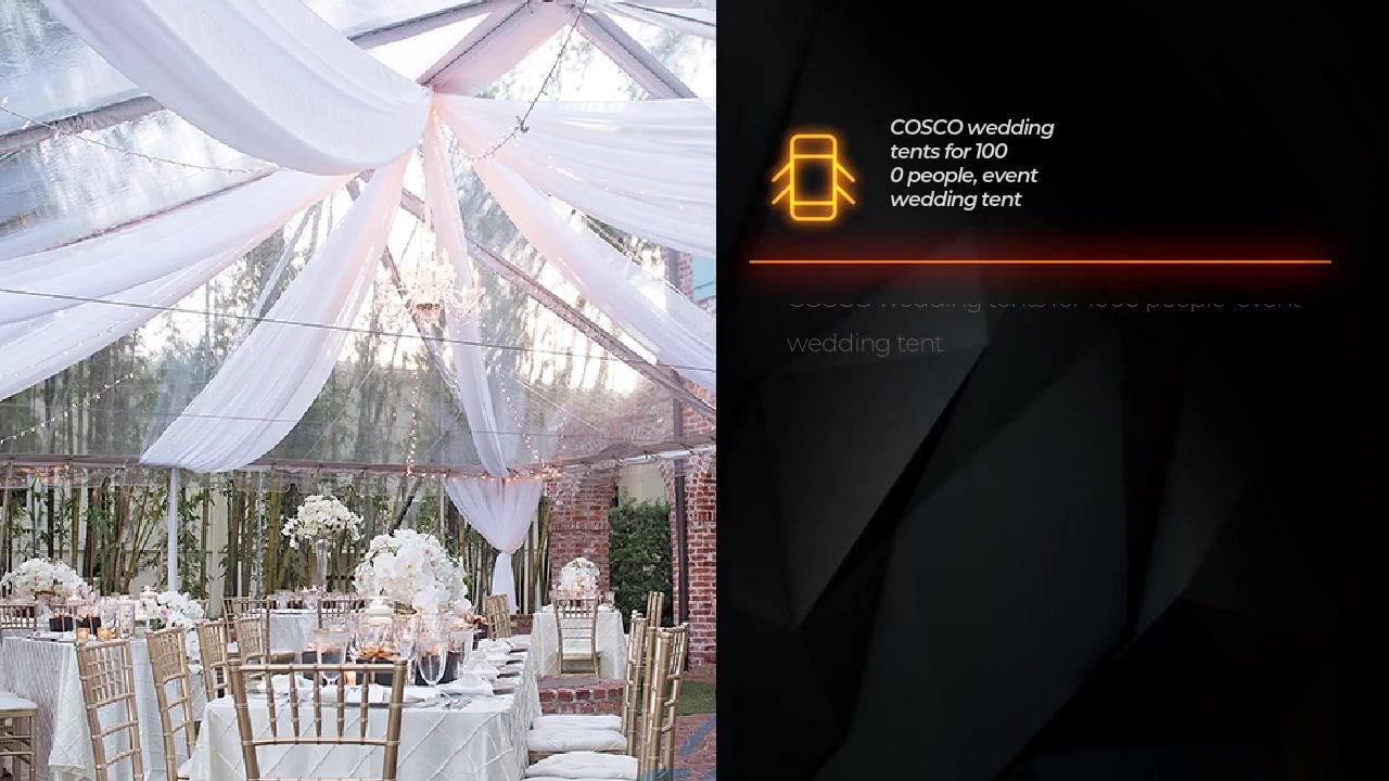 Lều cưới COSCO cho 1000 người, lều cưới sự kiện