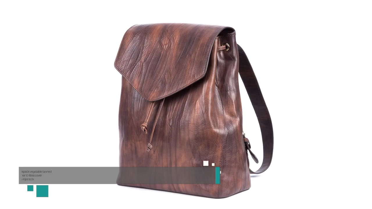 Best Backpack vegetable tanned leather 10 litres cover with rope lock Supplier