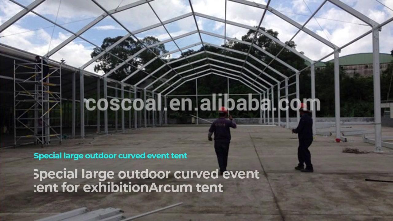 Tienda grande especial para eventos curvos al aire libre para exhibición