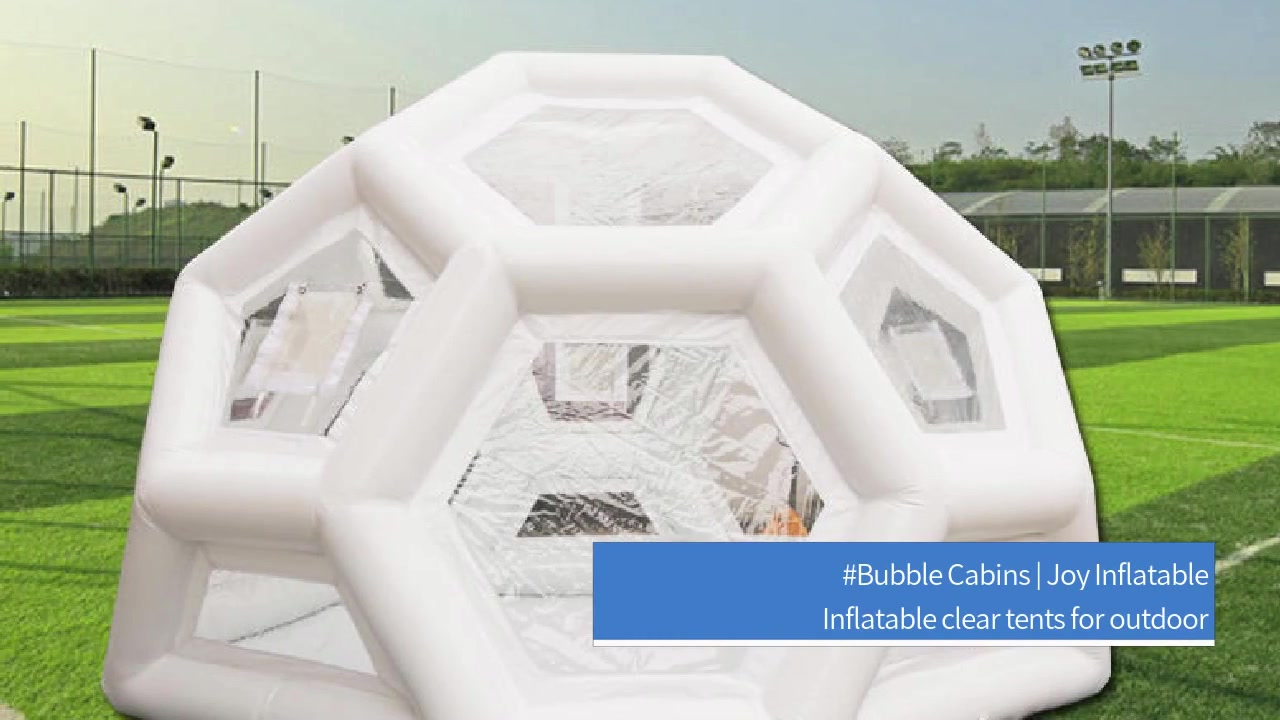 Inflatable Clear Spherical Dome Bubble Cabins Ballon Tent For Camping
