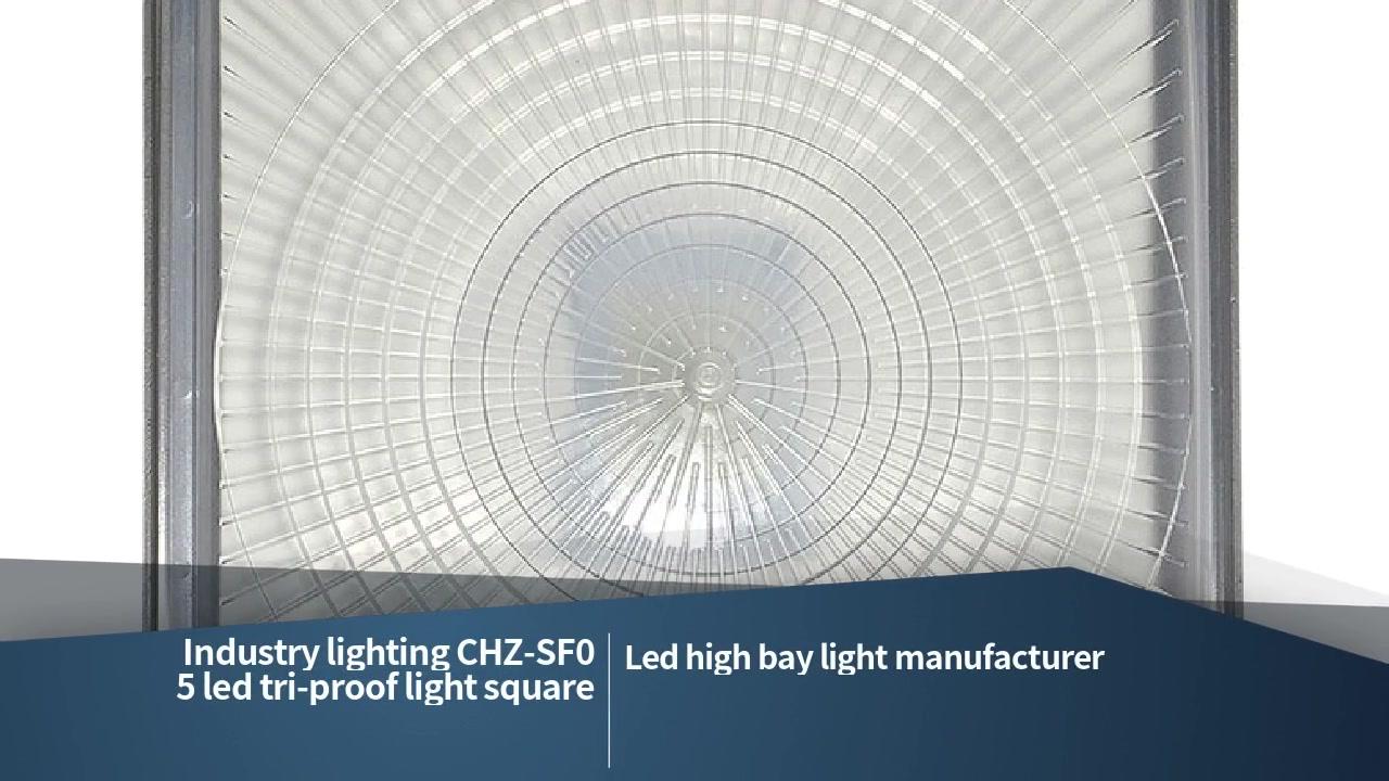 Iluminación da industria CHZ-SF05 cadrada de luz tri-proba