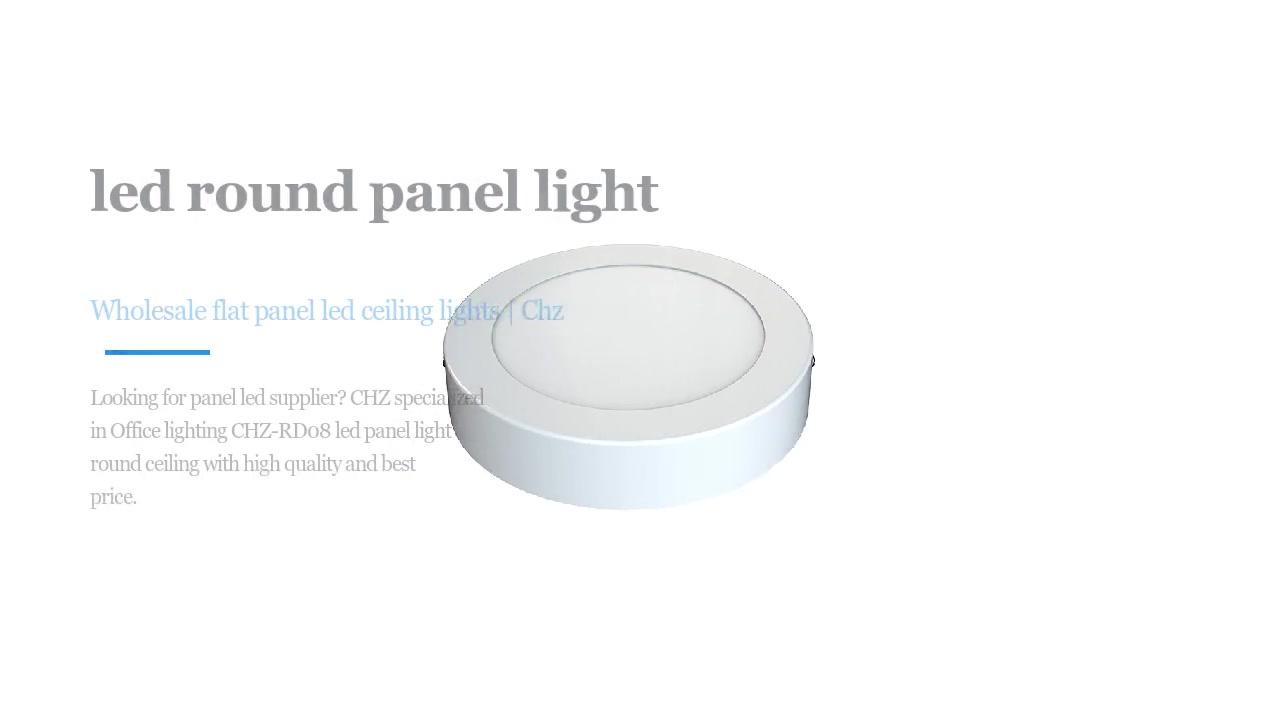 Office lighting CHZ-RD08 led round panel light ceiling series