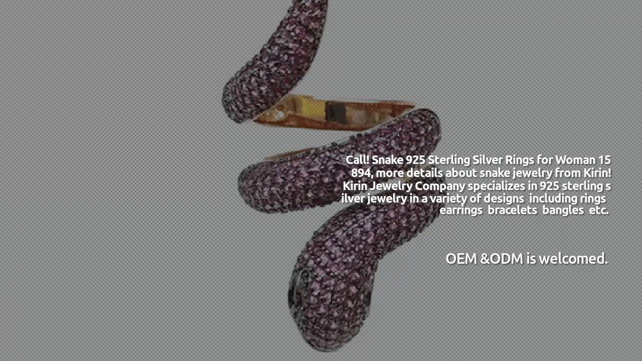Anelli da donna professionali in argento sterling 925 con serpente 15894 produttori