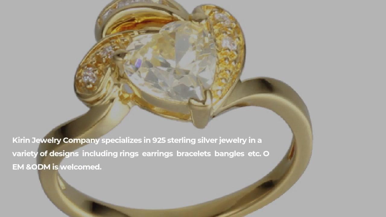 最佳精致女性925纯银心形切割戒指珠宝104481工厂价格-麒麟