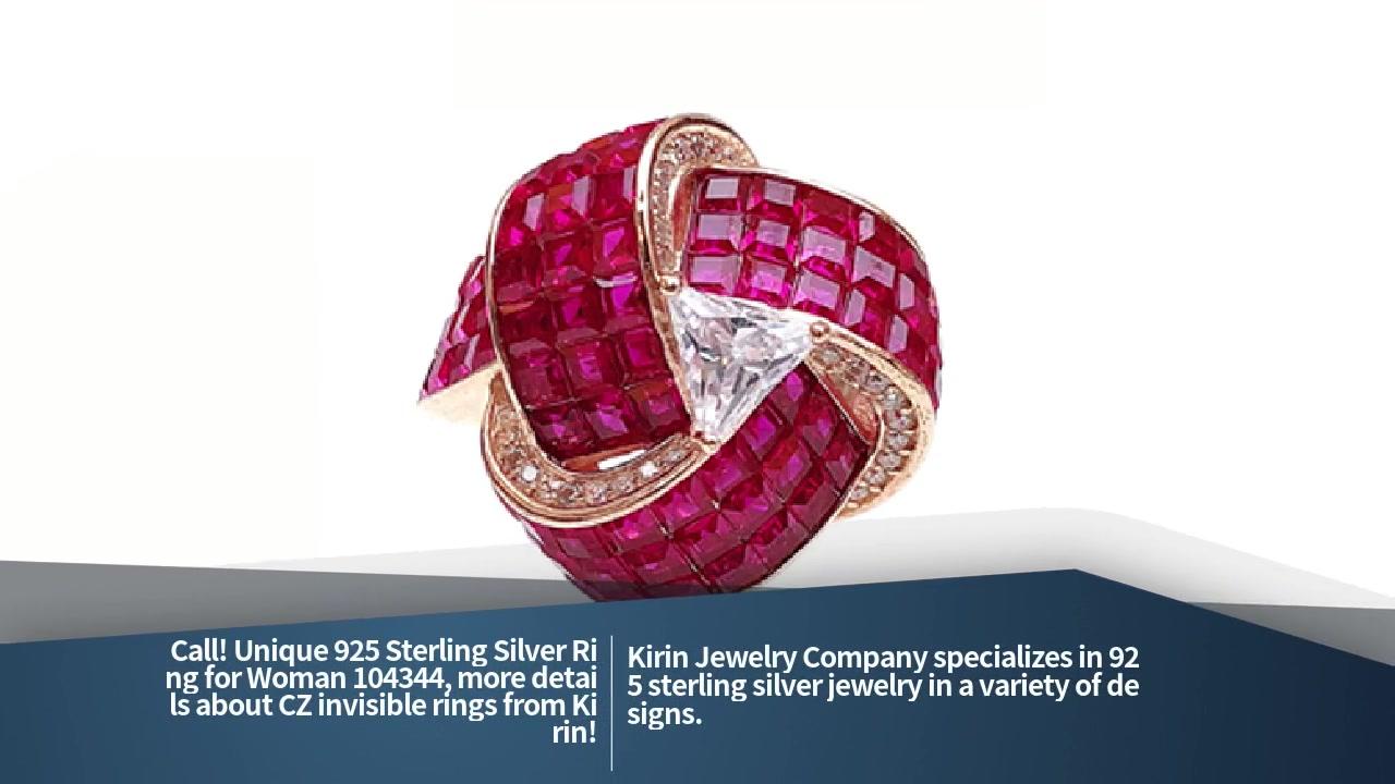 საუკეთესო უნიკალური 925 სტერლინგი ვერცხლის ბეჭედი ქალისთვის 104344 ქარხნის ფასი