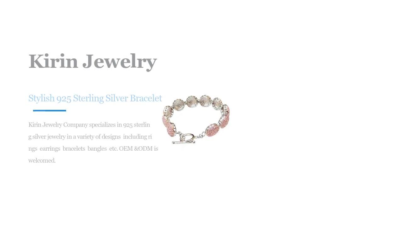 China Stylish 925 Sterling Silver Bracelet bakeng sa baetsi ba basali ba 60388