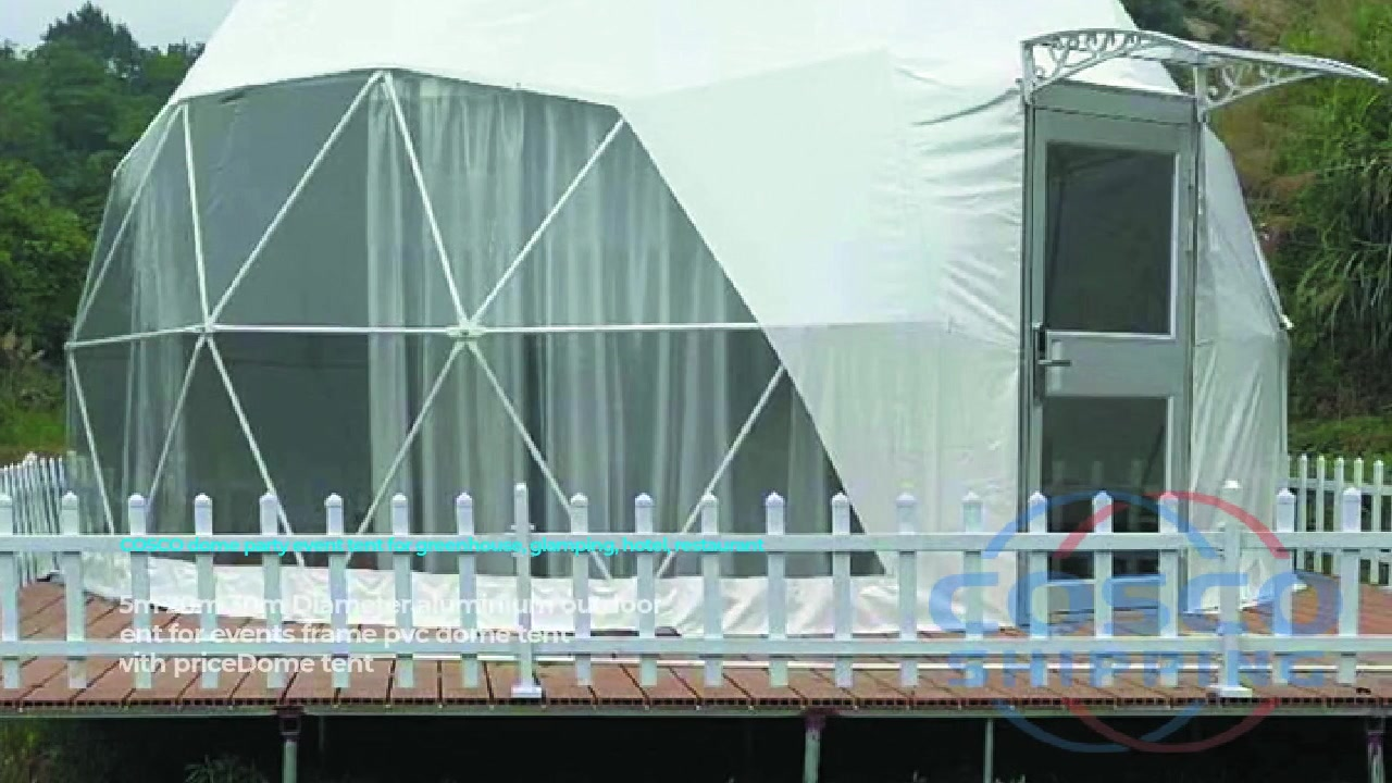 Carpa exterior de aluminio de 15m 20m 30m de diámetro para marco de eventos carpa de cúpula de pvc con precio