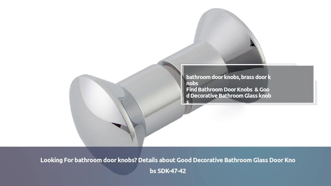 Door knob handle Good Decorative Bathroom Glass Door Knobs SDK-47-42   JY