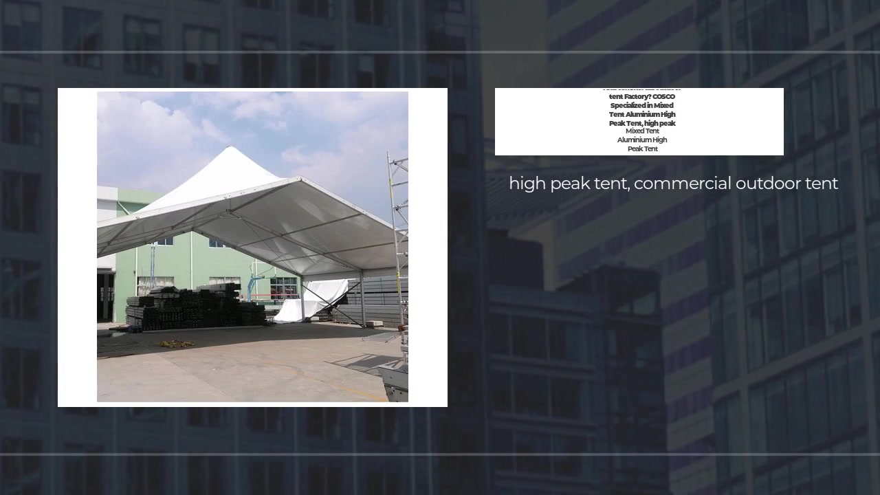 Blandet telt Højtoppetelt aluminium