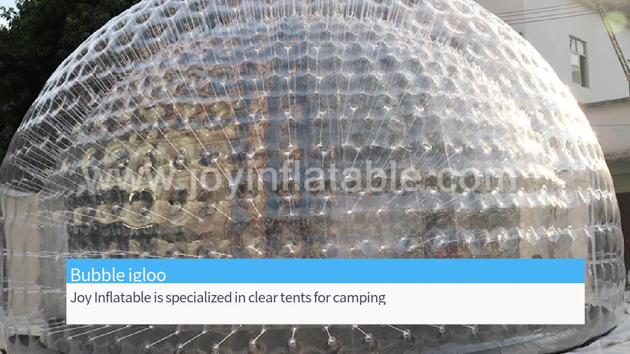 Inflatable Airtight Bubble Dome Clear Tent for Outdoor Lawn Camping