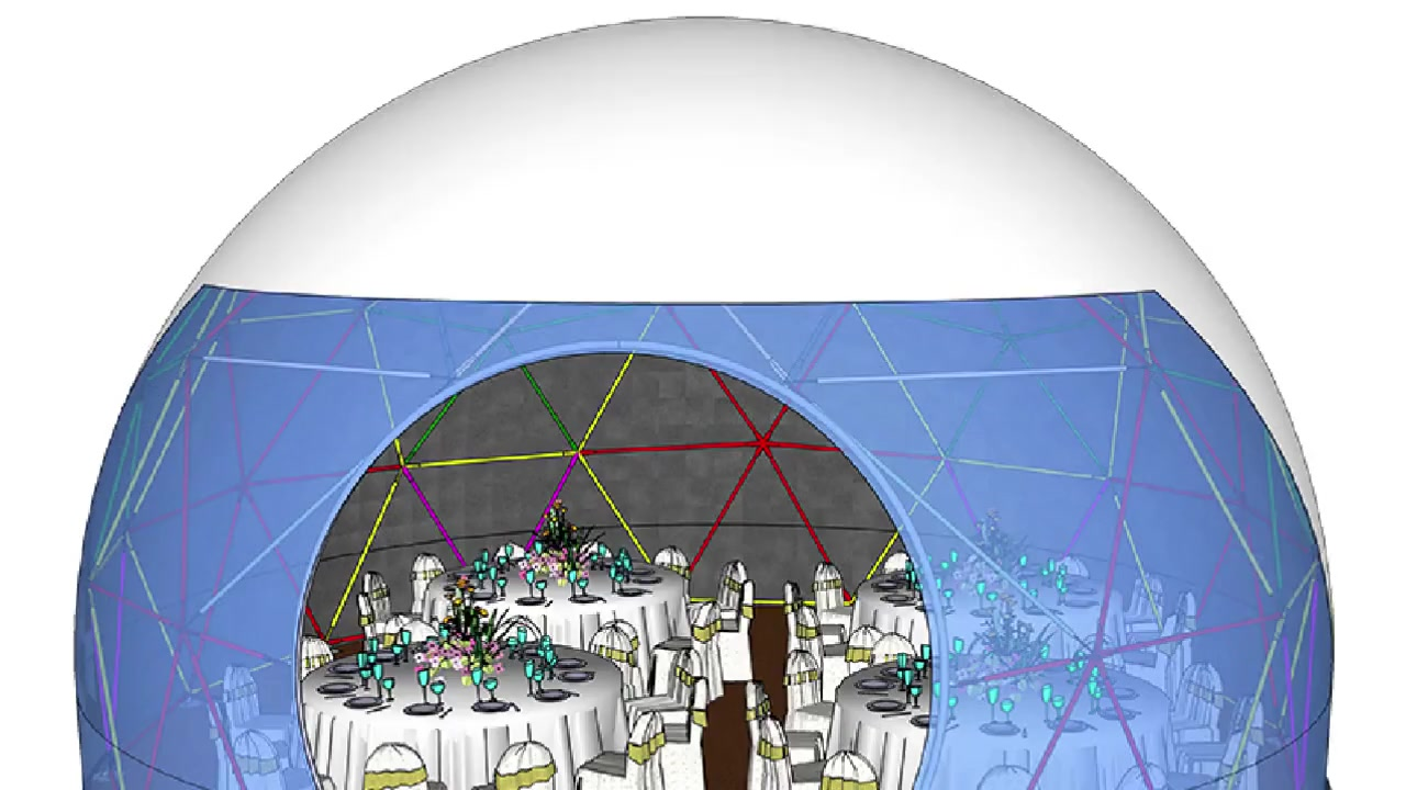 Ubungakanani besiko Ecacileyo ye-PVC yeLatinic Dome Tome yeTome yePhaseji yePhandle