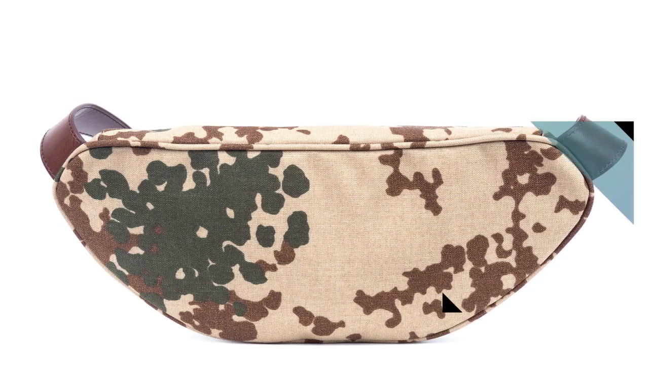 Best genuine leather wax leather strap camouflage nylon pocket FactoryPrice-