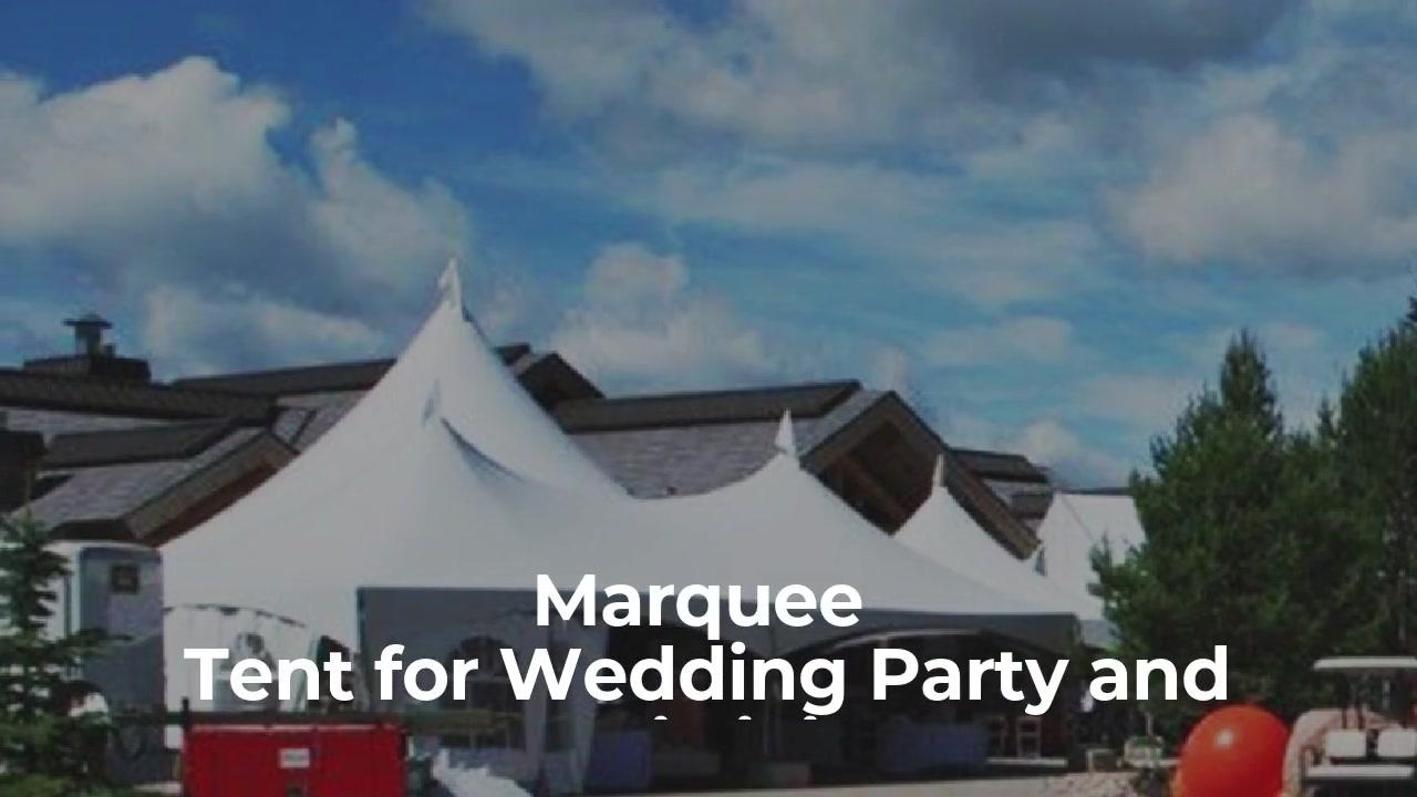 10X21M Bingkai Aluminium Marquee Kémah pikeun pesta kawinan sareng paméran