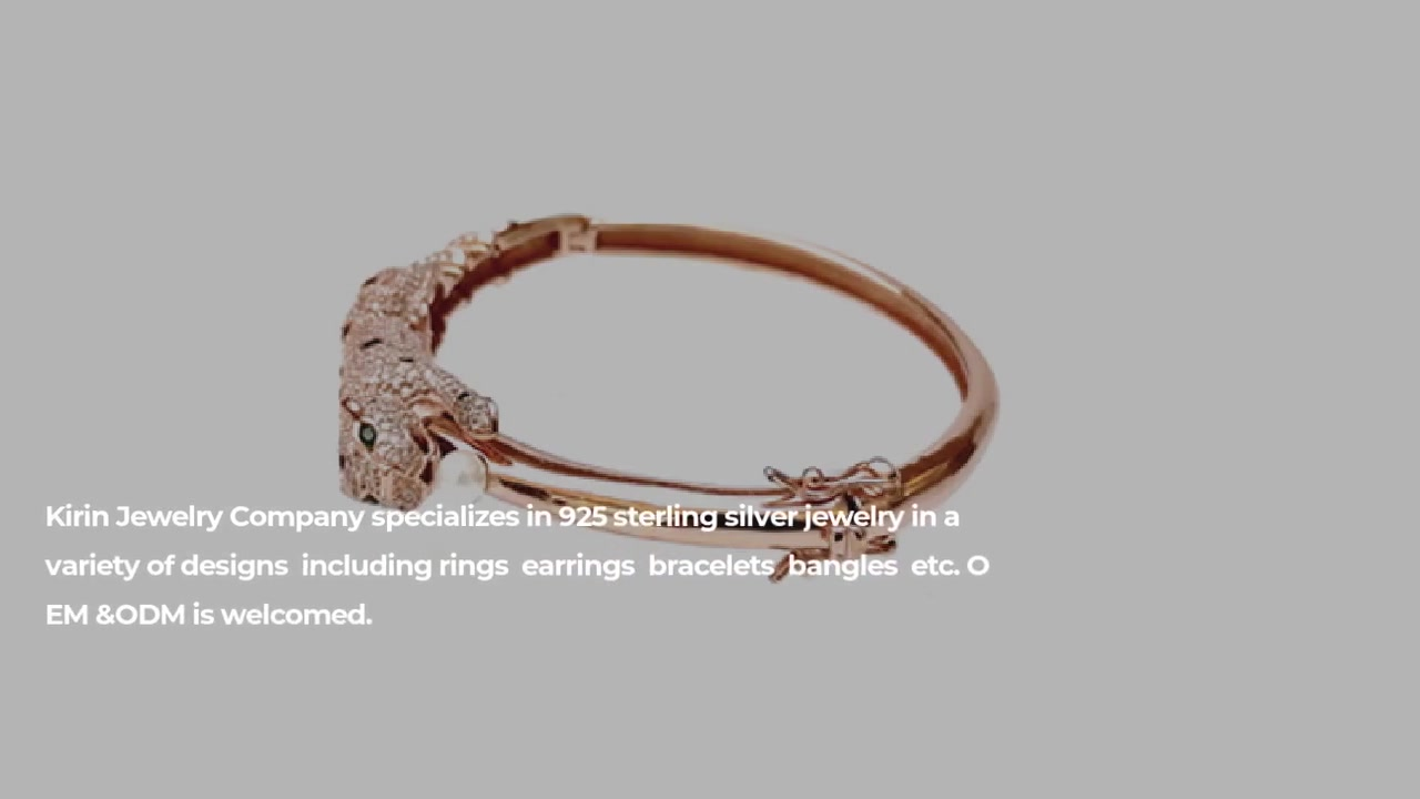 Bracciale in argento sterling 925 per donna 50236 di alta qualità Leopard