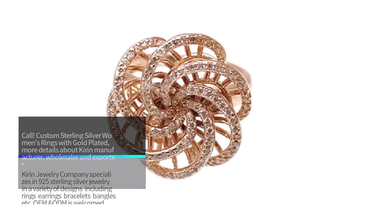 China Spesiale 925 sterling silwer goue gevul ringe vir vervaardigers van vroulike 80831R