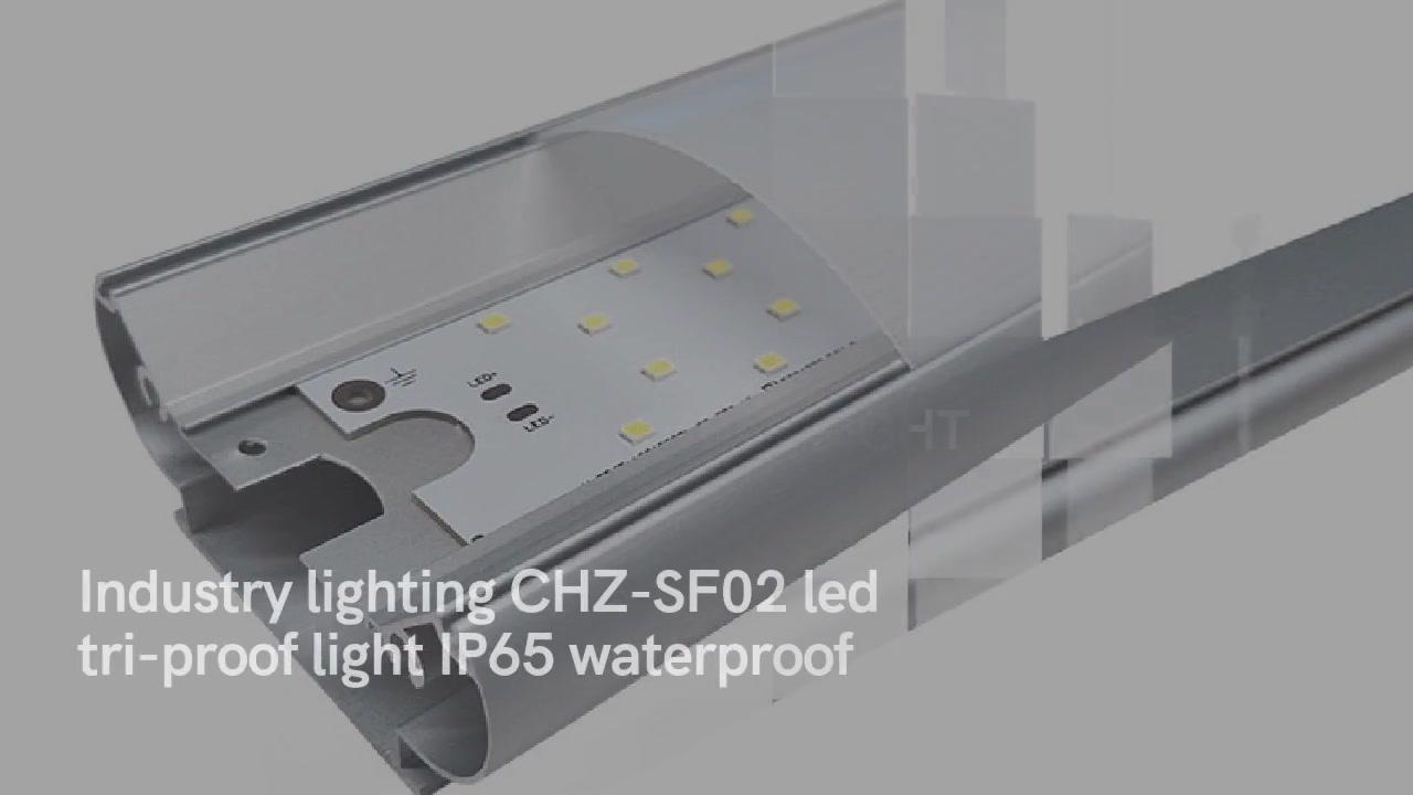 Teollisuusvalaistus CHZ-SF02-johtanut kolmitiivis IP65-vaalea vesitiivis