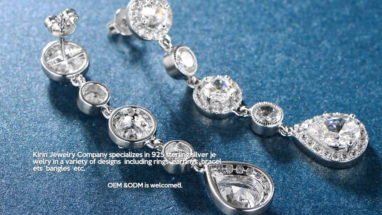 Profesyonel Damla Küpe 925 Ayar Gümüş Küpe 301452 üreticileri-Kirin