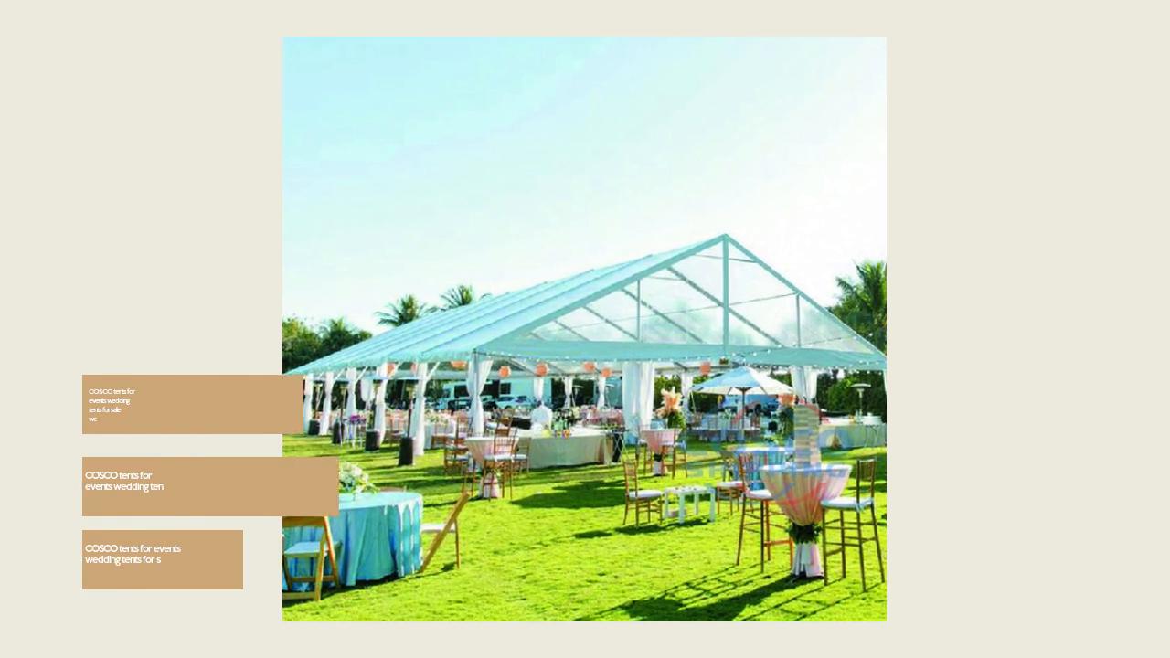 COSCO telgid ürituste jaoks pulm telgid müügil pulma telk