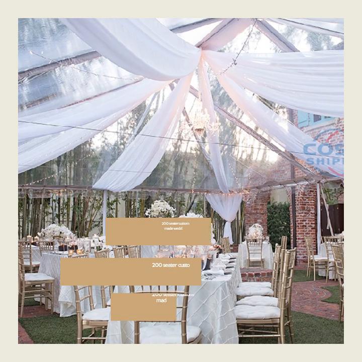 Carpa de carpa de boda por encargo de 200 plazas para la venta