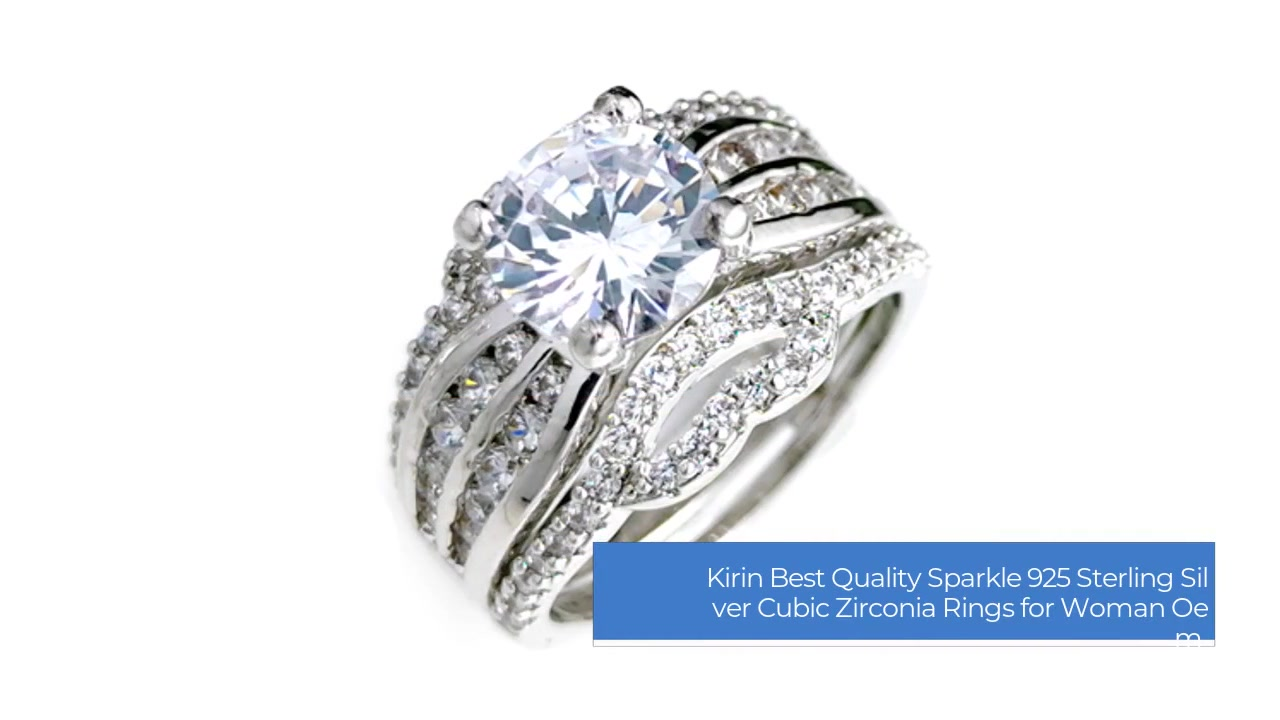 Melhor Qualidade Sparkle Engagement 925 Sterling Silver Cubic Zirconia Rings for Woman 107278 Oem-Kirin