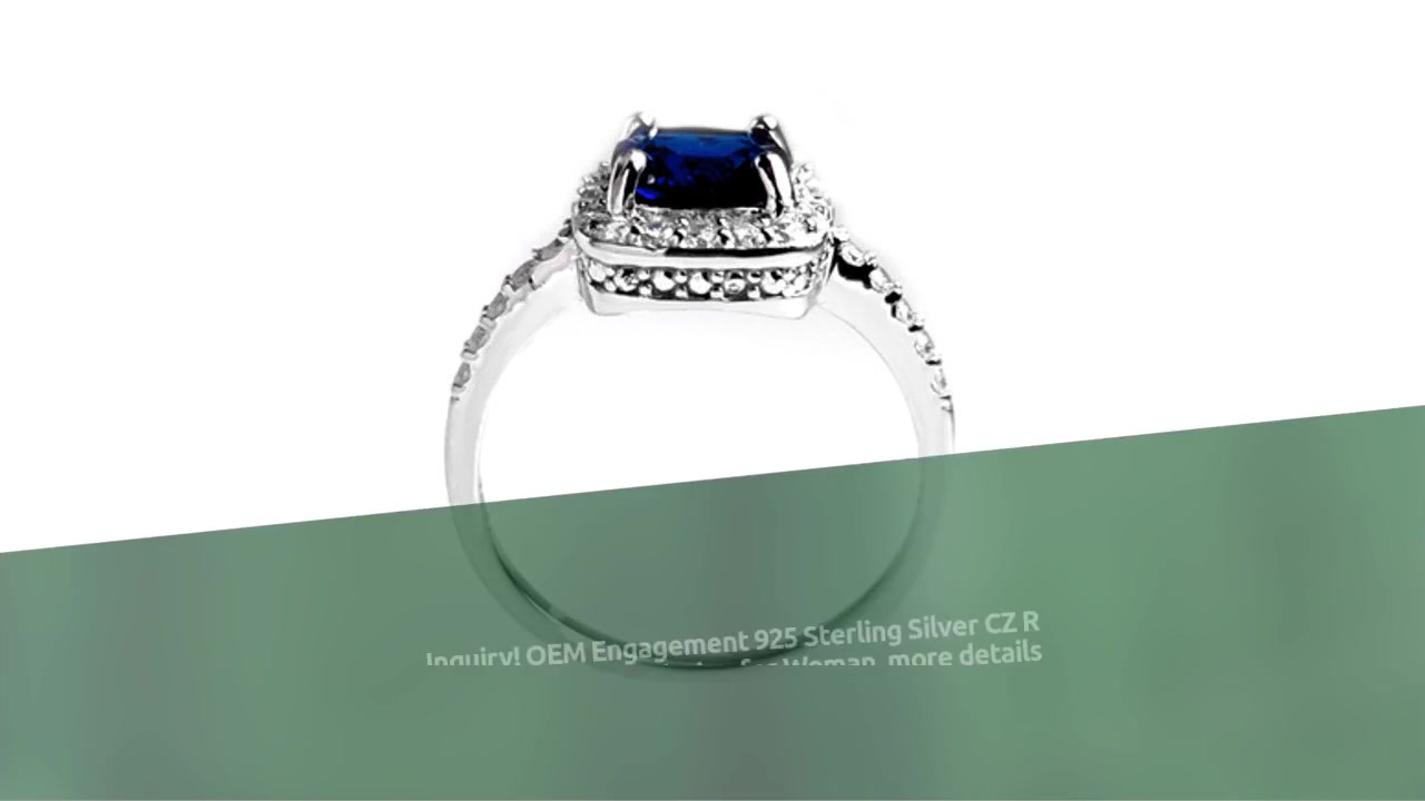 OEM Engagement 925 Sterling Silver CZ Üzük 86949RW Qadın üçün Rodium Plitə ilə