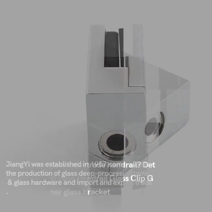 Glass Railing Clips&Flat Base Handrail Glass Clip GC-018F | JY