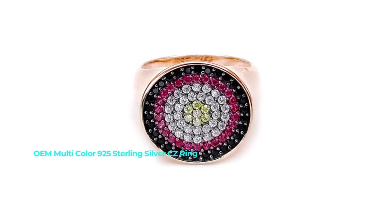 Werna OEM Profesional Akeh warna 925 Cincin Wanita CZ Perak Sterling kanthi Plated Emas 85203