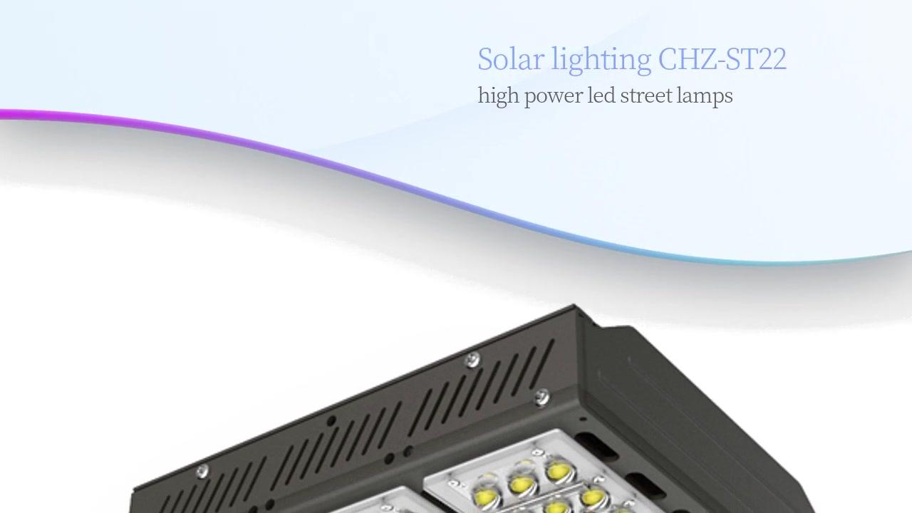 Aurinkovalaisimet CHZ-ST22 suuritehoiset led-katuvalaisimet