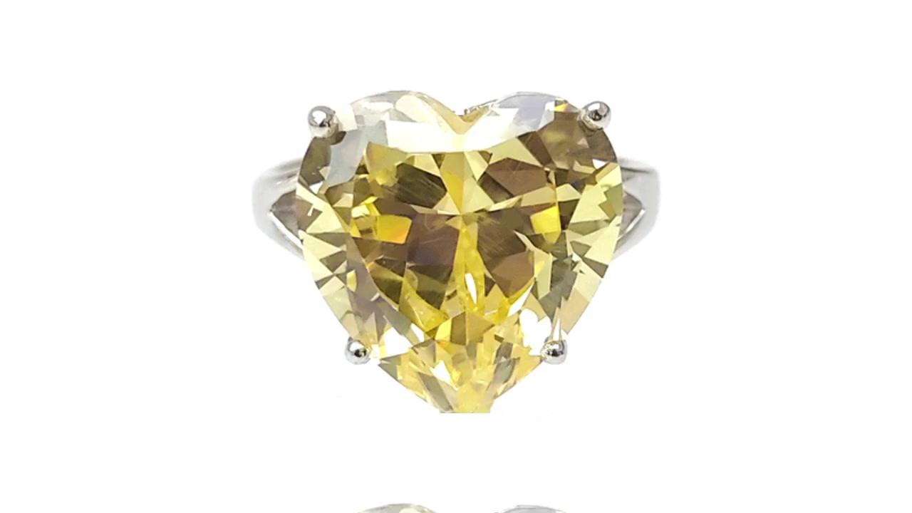 定制的Heart Love 925纯银戒指,女款镀铑85512RW